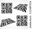 Simple qr code icon. Vector illustration - stock photo