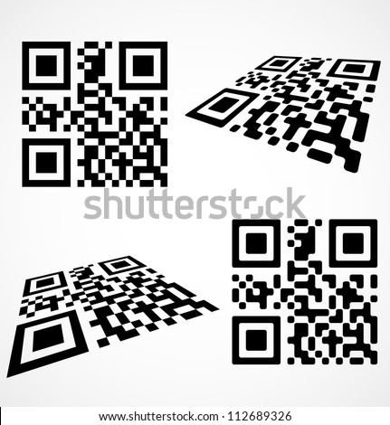 Simple qr code icon. Vector illustration - stock vector