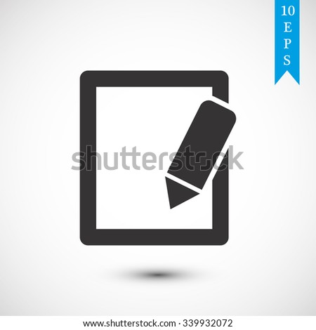 Simple registration vector icon 10 EPS - stock vector