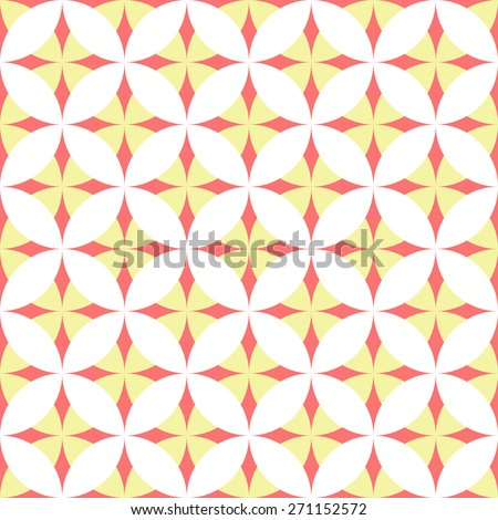 Simple seamless oriental pattern for tile. Vector illustration. - stock vector