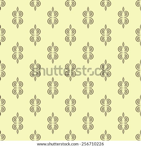 Simple seamless pattern with round elements - stock vector