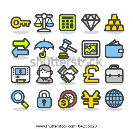 Simple series | Finance,banking icon set - stock vector
