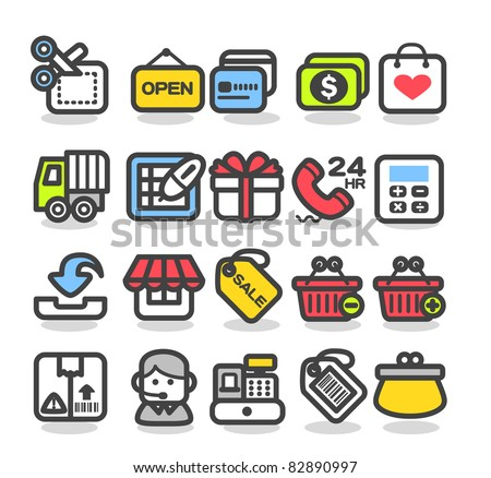 Simple series | Shopping,Internet, Business icons Set