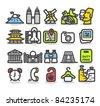 Simple series | Travel,landmarks  icon set - stock vector