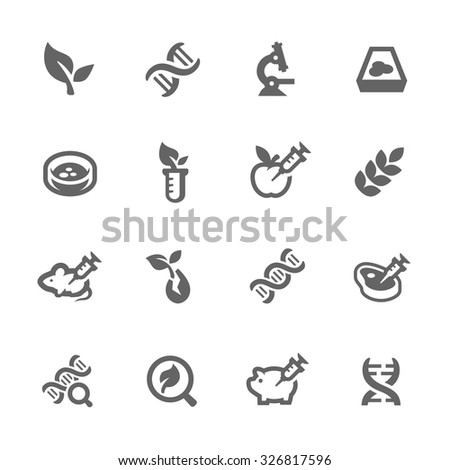 Simple Set GMO of Fight Related Vector Icons for Your Design. - stock vector