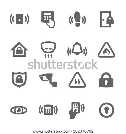 Simple set of media related vector icons for your design - stock vector