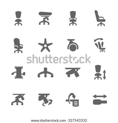 Simple Set of Office chair Related Vector Icons for Your Design. - stock vector