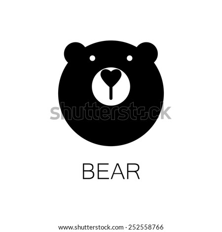 simple sign a bear - design template - stock vector