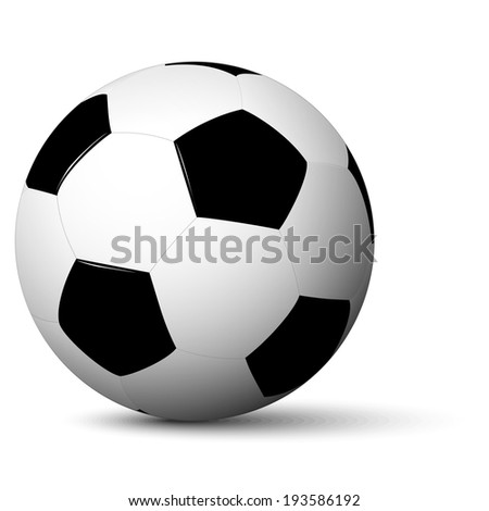 simple soccer ball with shadow