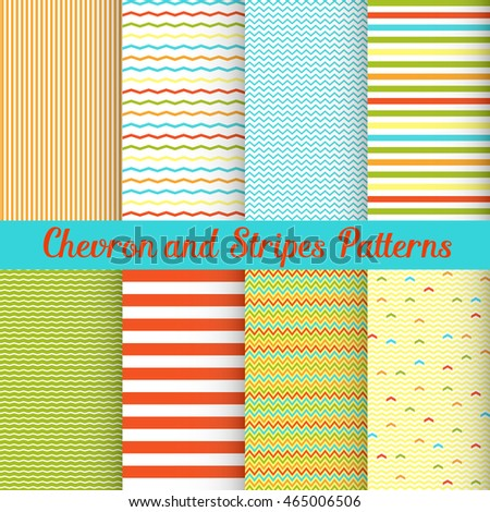 Simple Summer Chevron and Stripes patterns set