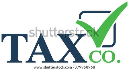 simple tax accounting logo stock vector 379958968 shutterstock rh shutterstock com tax logo images tax logo pics