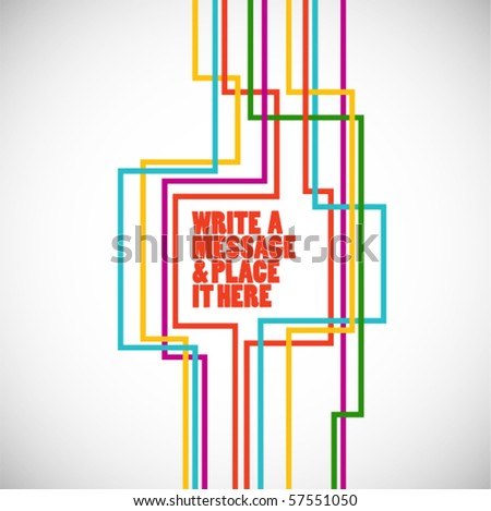 simple technological vector background - connection concept - stock vector