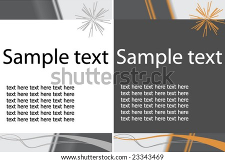 Simple Text Template - stock vector