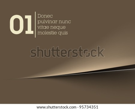 simple torn paper background / elegant vector background - stock vector