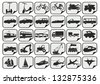 simple transport icons - stock vector