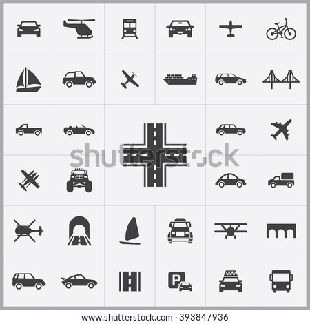 Simple transportation icons set. Universal transportation icon to use for web and mobile UI, set of basic transportation elements - stock vector