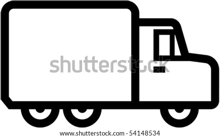 Simple truck icon - vector illustration - stock vector