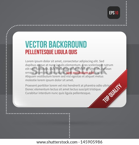 Simple vector banner on grey background. EPS10. - stock vector