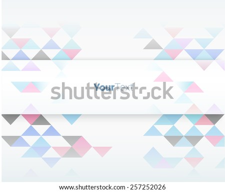Simple Vector Brochure Title Composition With Random Mosaic Pattern Composition of Colorful Triangles - stock vector