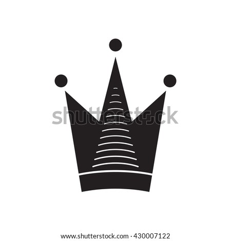 Simple vector crown icon isolated