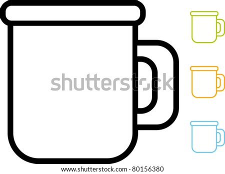 Simple vector icon – Mug