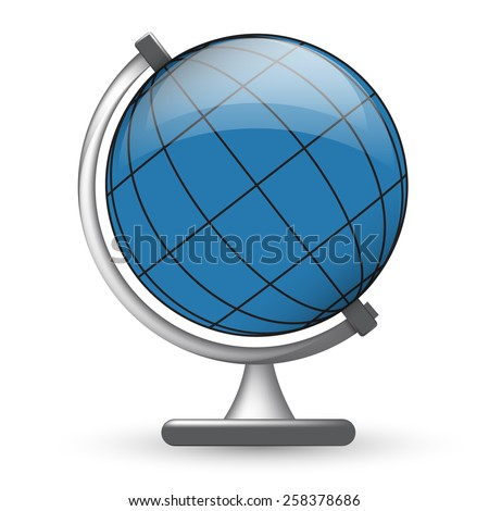 Simple vector illustration of globe