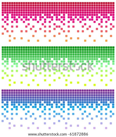 Simple vector mosaic background in different color - stock vector