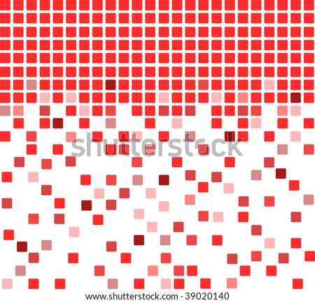 Simple vector mosaic background in red color
