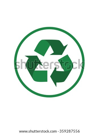 Simple Vector Recycling Icon - stock vector