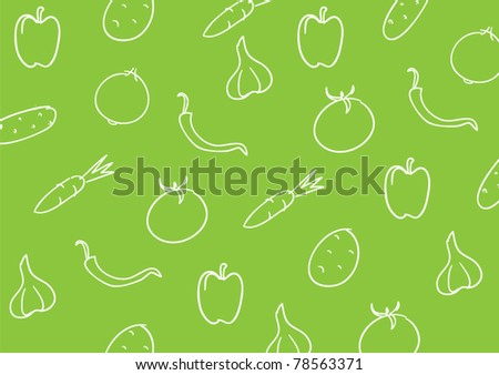 simple vegetable pattern