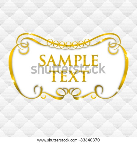 simple vintage frame with seamless upholstery texture - stock vector
