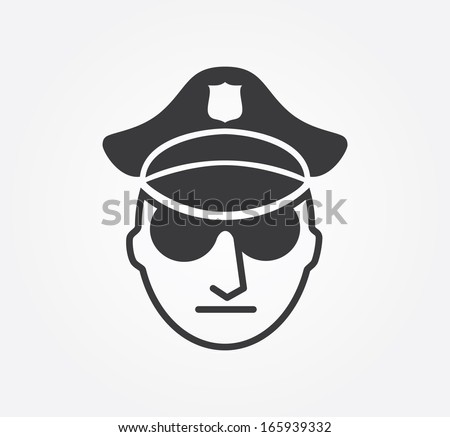 Simple web icon in vector: Crime - stock vector