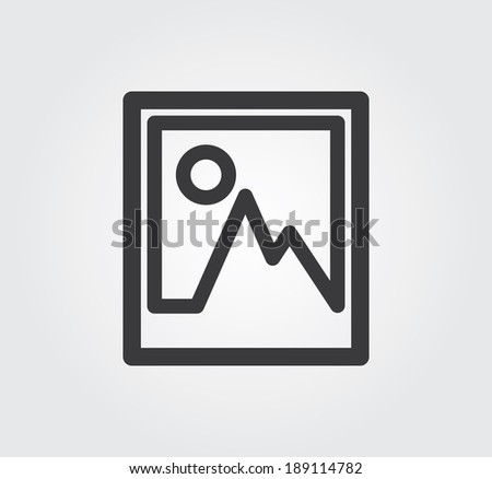 Simple web icon in vector: image - stock vector