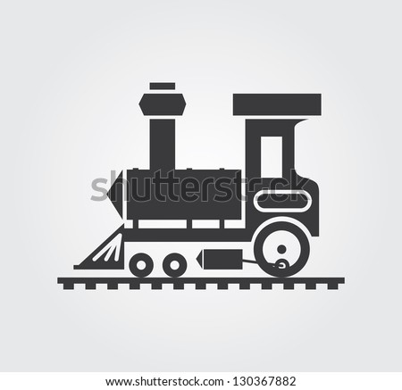 Simple web icon in vector: locomotive - stock vector