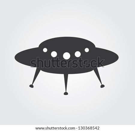 Simple web icon in vector: UFOs