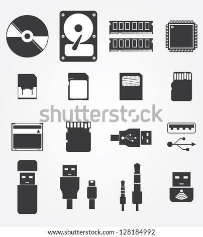 Computer Parts Logos in Vector Computer Parts