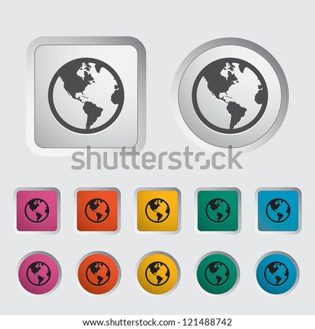 Simple World globe. Vector illustration. - stock vector
