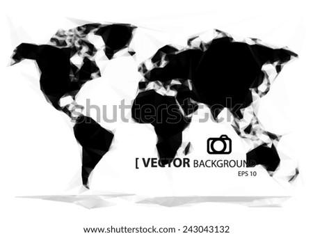 Simple world map orange paint vectores en stock 243043135 shutterstock simple world map black paint gumiabroncs Image collections