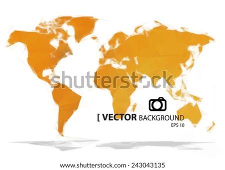Simple world map orange paint vectores en stock 243043135 shutterstock simple world map orange paint gumiabroncs Gallery