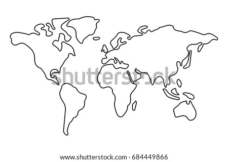 World map outline stock images royalty free images vectors simple world map outline gumiabroncs Choice Image