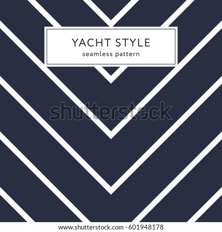 simple zigzag seamless pattern yacht style stock vector 601948178