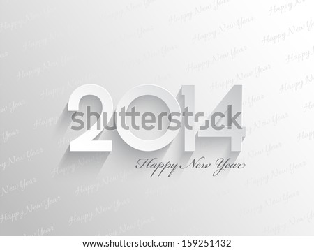 Simplistic background for a Happy New Year - stock vector