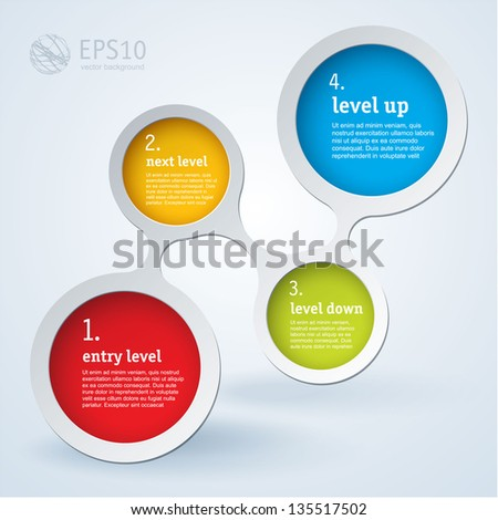 Simply infographic step by step vector  template - stock vector