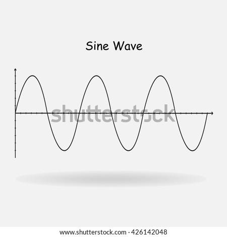 Sine wave signal vector illustration stock vector 2018 426142048 sine wave signal vector illustration ccuart Images