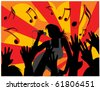 Singing women - stock vector