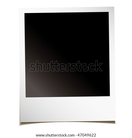 Single blank instant photograph with shadow and room to add your own image - stock vector