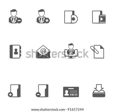 Single Color Icons - Group collaboration - stock vector