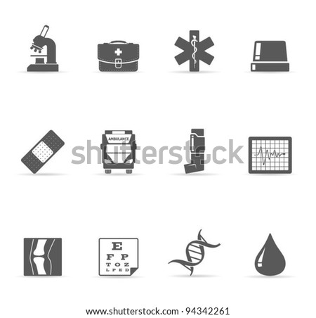 Single Color Icons - More Medical - stock vector