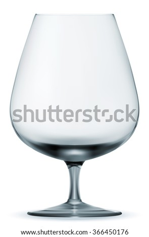 Single empty wine glass. Vector EPS-10 - stock vector