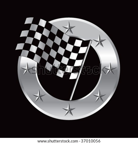 single flag on superstar background - stock vector